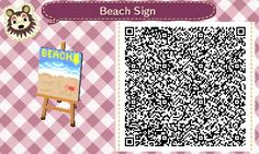 Beach Sign - Animal Crossing New Leaf QR Code