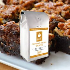 Organic Decaf Cinnamon Pecan Brownie | Fresh Cup of Hope Coffee Co. #FRESHCUPOFHOLIDAYS