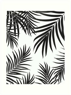 """Palm Leaves Pattern Summer Vibes #2 #tropical #decor #art"" Art Prints by anitabellajantz 