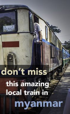 Jump on the local Circle Line train through the city of Yangon in Myanmar to get up close with the locals - and everything they bring on board with them!