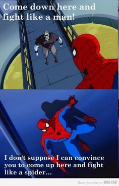 Just spider-man being spider-man