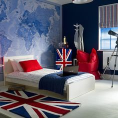 Global themed boy's bedroom | Teenage boy's bedroom ideas | Childrens room | PHOTO GALLERY | Ideal Home | Housetohome.co.uk