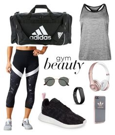 """""""#18 Gym"""" by koivumaajulia ❤ liked on Polyvore featuring adidas, Ray-Ban, Fitbit and Beats by Dr. Dre"""