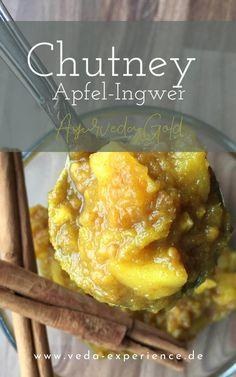 Apfel-Ingwer Chutney nach Ayurveda Art Pitta, Ayurveda, Chutney, Soul Food, Dips, French Toast, Breakfast, Art, Food For The Soul