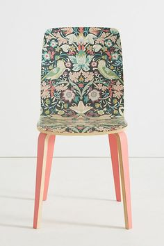 """This is William Morris' """"Strawberry Thief"""" pattern. Liberty for Anthropologie Tamsin Dining Chair Funky Furniture, Kitchen Furniture, Contemporary Furniture, Home Furniture, Furniture Design, Furniture Stores, Furniture Movers, Furniture Ideas, Bedroom Furniture"""