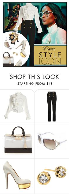 """""""Style Icon:Ciara"""" by melindairenes ❤ liked on Polyvore featuring Roberto Cavalli, Vivienne Westwood, Furla, Charlotte Olympia, Diane Von Furstenberg, styleicon, thanksmylovelies, thankslovelies, thankslovelylady and thanksdarling"""