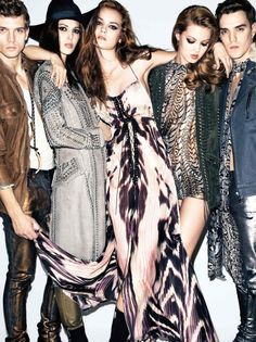 Lindsey, Jac & Ruby: Just Cavalli S/S '12 Campaign