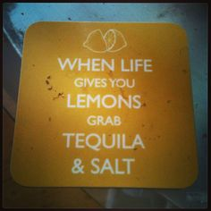 When life gives you lemons..?