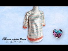 YouTube Lidia Crochet Tricot, Crochet Top, Crochet Videos, Couture, Crochet Patterns, Pullover, Sweaters, Tops, Women