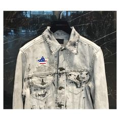 #SaintLaurent's take on the #denimjacket, and we love of course! Follow @thecornerberlinman for updates on what's going on in our men store!