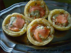 mini pizza au saumon fumé