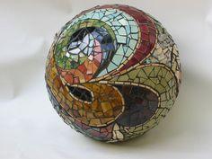 "18"" Orb by mosaic artist Cece Bode"