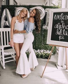 Alpha Delta Pi Recruitment Outfit Inspo and Decor Sorority Recruitment Decorations, Sorority Recruitment Outfits, Sorority Rush, College Sorority, Sorority Life, Sorority Girls, Sorority Canvas, Sorority Paddles, Sorority Sisters