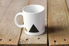 Tasse triangles by Asleepfromday on Etsy