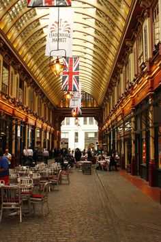 Leadenhall Market, London (filming location of Harry Potter's Diagon Alley)