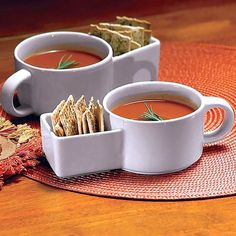 Soup Mug with Side Pocket. Double win!
