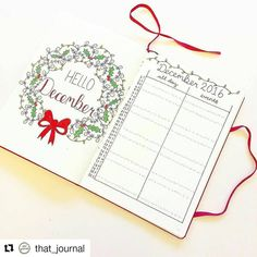 Festive monthly from @that_journal (#bulletjournalcollection)
