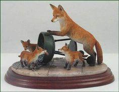 Border Fine Arts : A8786 Foxes - Family BBQ