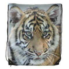#Small tiger 001 #Drawstring_Backpack #JAMFotoWorms #Zazzle.com