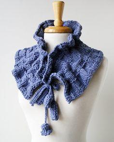 fiber art hand-knit scarf / designer: elena rosenberg