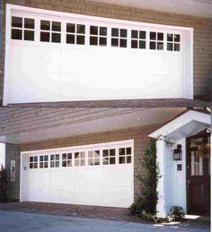 Double Garage Doors With Windows double garage door that looks like two doors | before - this