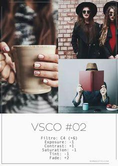 Filtro VSCO tons quentes, sem sol