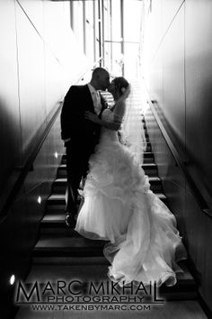 Wedding Photography by Hamilton based photographer Marc Mikhail www.takenbymarc.com   #takenbymarc #wedding #photography #photo #weddingdress #dresses  #marcmikhailphotography #love #sexy #beautiful #cute #bouquet #strapless #gown #satin #backless #rustic #beautiful #stairs #kiss #romantic