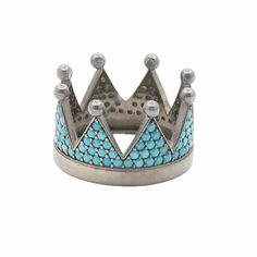Δαχτυλίδι στέμμα μαύρο ασήμι 925 με γαλάζια ζιργκόν   tsaldaris.gr Crown, Rings, Corona, Ring, Jewelry Rings, Crowns, Crown Royal Bags