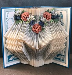 Sarah+Dane+Book+Art+Sculpture++Folded+Book+Art++Altered+Book