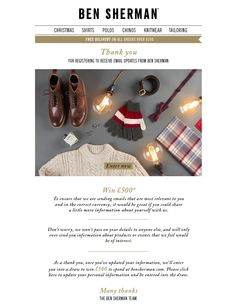 ben sherman tell us your preferences / welcome email