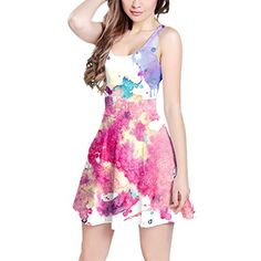 Watercolor Art Sleeveless Dress - XS XS-3XL Skater Stretch Flare Dress Queen of Cases http://www.amazon.com/dp/B01938F4XM/ref=cm_sw_r_pi_dp_xm7Rwb180KKVF