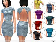ekinege's Fitted Backless Dress