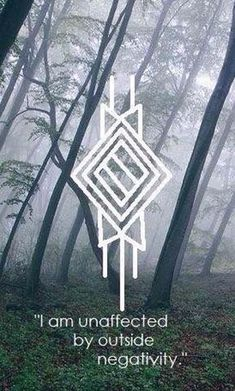 """Sigil will-o-the-witch: """" I am unaffected by outside negativity. (Made with elder futhark runes, if that sweetens the pot for anyone~) """" Rune Symbols, Magic Symbols, Celtic Symbols, Viking Symbols And Meanings, Celtic Runes, Norse Runes, Magick, Witchcraft, Rune Viking"""