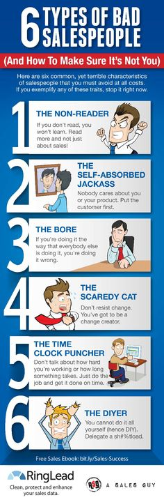 6 types of bad sales people #infographic
