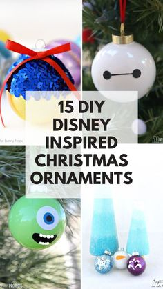 Wow! So many cool Disney ornaments to make to hang on your Christmas tree! These decorations will make great gifts for the Disney fan in your life too!