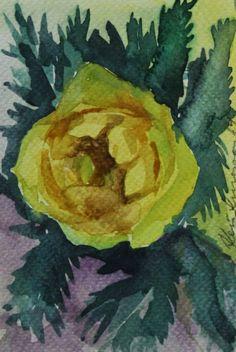 Keiu Kuresaar: maalid ja joonistused, watercolor postcards flowers globe flowers