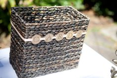 DIY card basket.