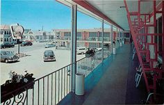 NJ, Wildwood-By-The-Sea, New Jersey, Pink Shell Motel, 50s Cars, DP No 43031B