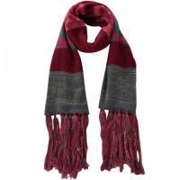 Lekker voor de winter. Gebreide rode sjaal met lange franjes voor maar 13,95 bij www.deoorbel.nl   http://www.deoorbel.nl/sjaals-cols-omslagdoeken-c-220.html