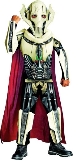 boys deluxe star wars clone wars general grievous costume party city - Clone Wars Halloween Costumes
