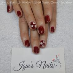 CND Shellac manicure with hand painted nail art - By Jo Wickens @ Jojo's Nails - www.jojosnails.com