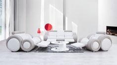 Unwind Leather Sofa Suite 3 + 2 + 1 - Lounge Life
