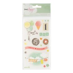 American Crafts - Dear Lizzy Neapolitan Minimarks - Accents, Phrases Rub-on Sheet ,$2.99