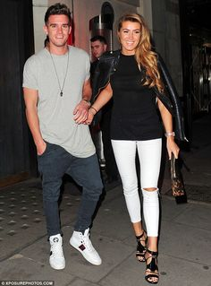 Table for two: Gary 'Gaz' Beadle was spotted dining with his girlfriend,Lillie Lexie Gregg, at London's Hakkasan restaurant on Tuesday night