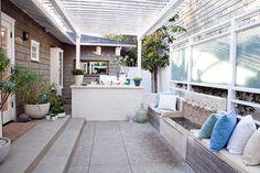 leuke tuin ideeen 5 Leuke tuin ideeën  bankje voor op het balkon (to dikomas spiti)