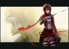 Metal Poster Mikasa Ackerman Eren Yeag