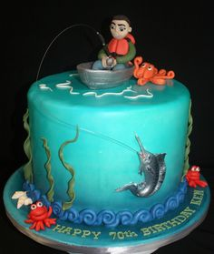 Super birthday cake for husband love sons 69 Ideas Birthday Cakes For Men, Fish Cake Birthday, Birthday Cake For Husband, Birthday Ideas, Camo Birthday, Happy Birthday, Fishing Theme Cake, Fishing Cakes, Fisherman Cake