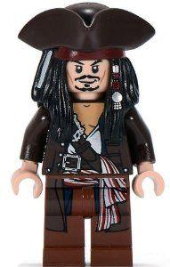 Captain Jack Sparrow (Hat & Jacket) - LEGO Pirates of the Caribbean Minifigur