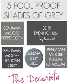Grey walls. More Pins Like This At FOSTERGINGER  @ Pinterest