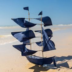 Cerf-volant ou Mobile navire - Bleu nuit
